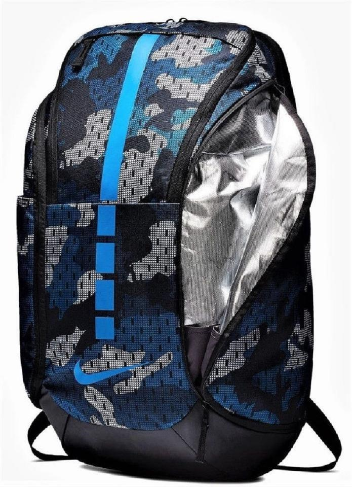 51d5edf9d9e6 Nike Hoops Elite Pro Graphic 2.0 Camo Max Air Unisex Blue/Black  Blue/Black/Gray Polyester Backpack 17% off retail