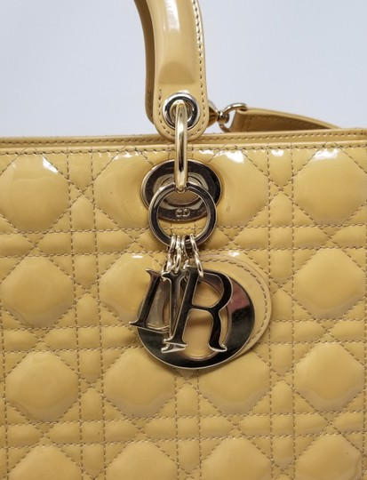 Dior Lady Large Purse Christian Tote in Yellow Image 7