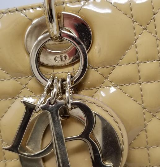 Dior Lady Large Purse Christian Tote in Yellow Image 9