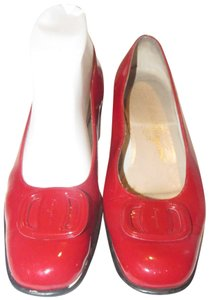 20584d5b2 Salvatore Ferragamo Mint Condition Xl Perfect Pop Of Color 7.5b red patent  leather with an