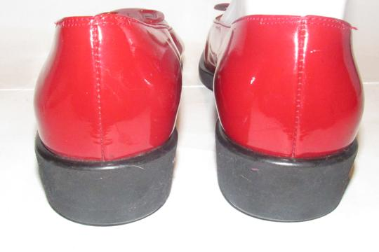 Salvatore Ferragamo Mint Condition Xl Perfect Pop Of Color 7.5b red patent leather with an extra large Vara accent at the toes Flats Image 10