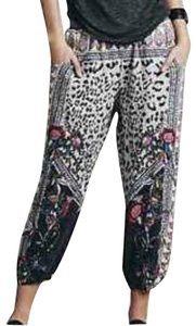 Free People Relaxed Pants Navy/white/brown/pink