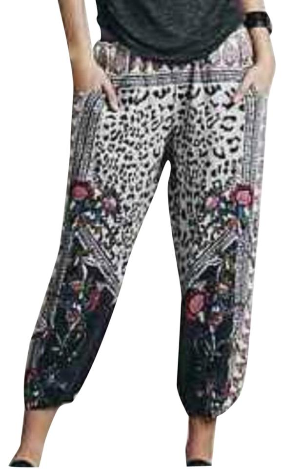 5a11963ba33f0c Free People Navy/White/Brown/Pink Leopard/Paisley Floral Print Harem Pants