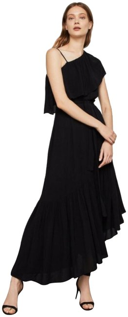 Item - Black Conrad Off-the-shoulder Asymmetrical Color Bn Long Night Out Dress Size 0 (XS)