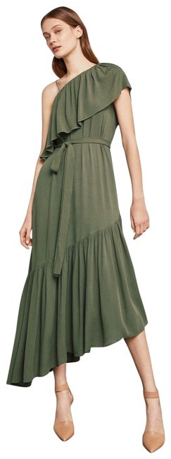 Item - Olive Green Conrad Off-the-shoulder Asymmetrical Long Night Out Dress Size 12 (L)