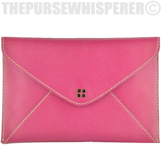 Kate Spade Envelope Nikolette Tarrytown Leather Burgundy Clutch Image 1