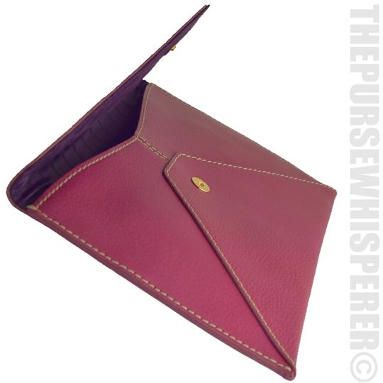 Kate Spade Envelope Nikolette Tarrytown Leather Burgundy Clutch Image 2