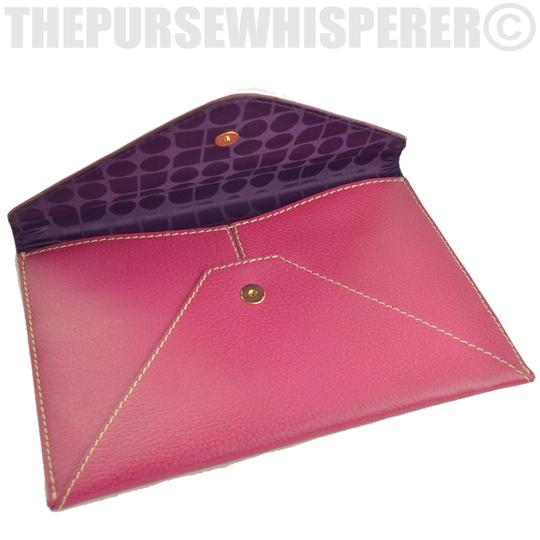 Kate Spade Envelope Nikolette Tarrytown Leather Burgundy Clutch Image 5