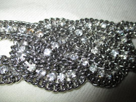 Other braided wide chain with rhinestones Image 1