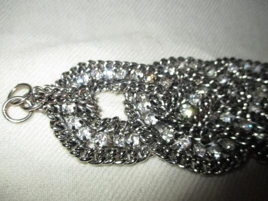 Other braided wide chain with rhinestones Image 4