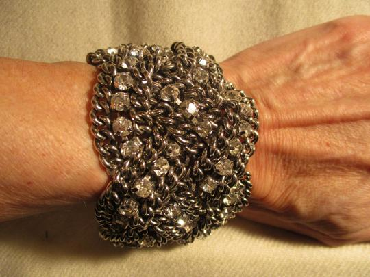 Other braided wide chain with rhinestones Image 5