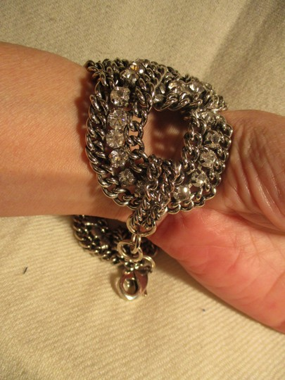 Other braided wide chain with rhinestones Image 6