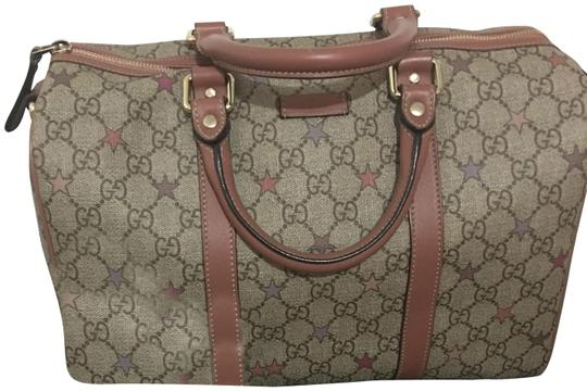 Preload https://img-static.tradesy.com/item/24835842/gucci-limited-star-edition-leather-canvas-satchel-0-1-540-540.jpg