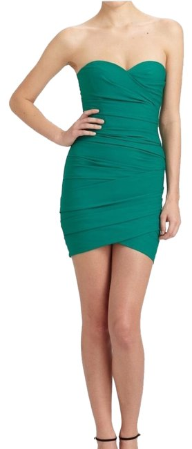 Preload https://img-static.tradesy.com/item/24835887/bcbgmaxazria-green-madge-strapless-ruched-short-cocktail-dress-size-2-xs-0-1-650-650.jpg
