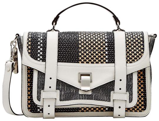 Preload https://img-static.tradesy.com/item/24835976/proenza-schouler-medium-ps1-woven-leather-trimmed-white-coated-canvas-satchel-0-3-540-540.jpg