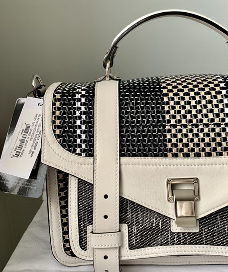 Proenza Schouler Ps1 Medium Ps1 Leather Satchel in Multicolor Woven Canvas and Image 2