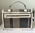 Proenza Schouler Ps1 Medium Ps1 Leather Satchel in Multicolor Woven Canvas and Image 3