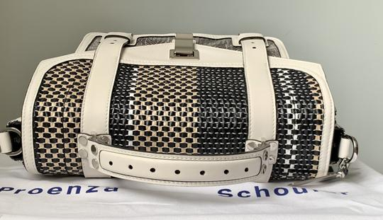 Proenza Schouler Ps1 Medium Ps1 Leather Satchel in Multicolor Woven Canvas and Image 8