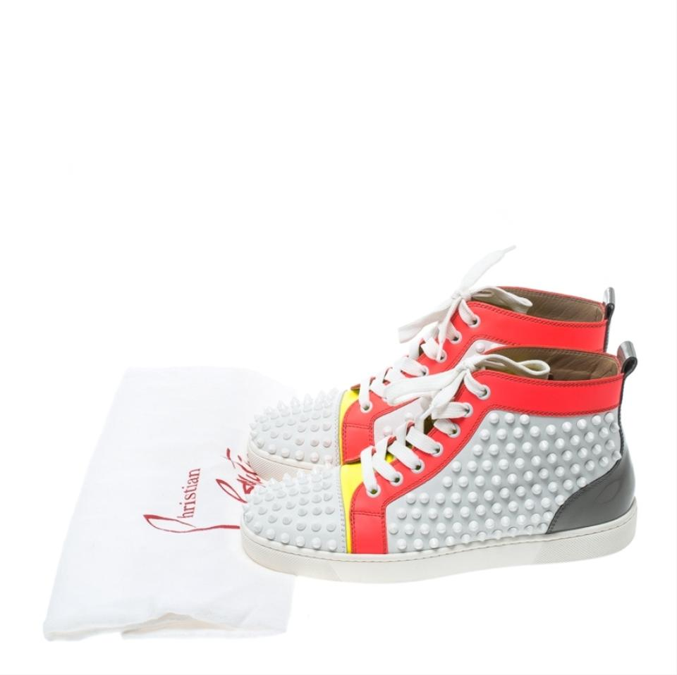 5b0bb224e0b Christian Louboutin Multicolor Leather Louis Spikes Lace Up High Top  Sneakers Flats Size EU 38 (Approx. US 8) Regular (M, B) 33% off retail