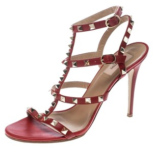 Valentino Leather Ankle Strap Red Sandals