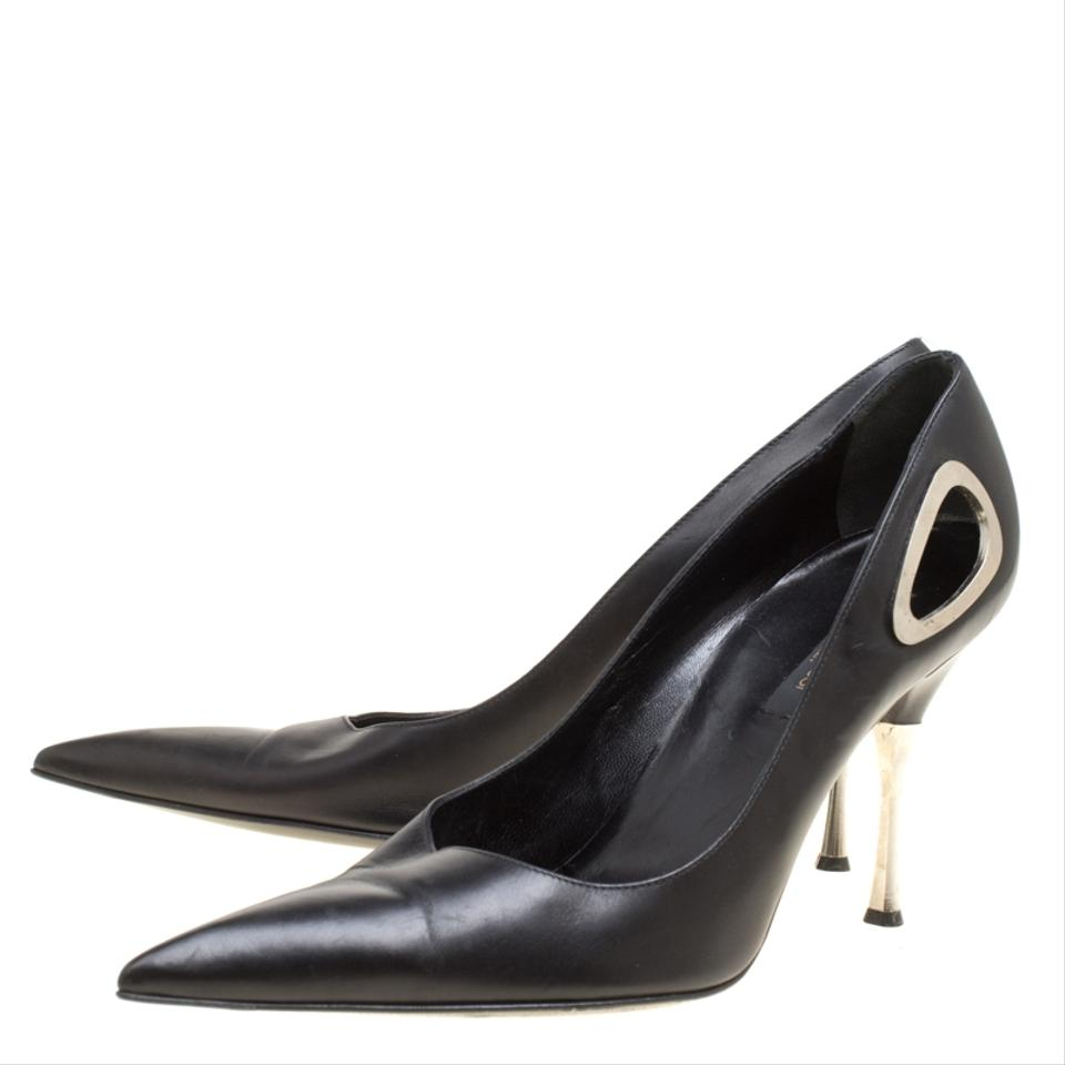 663a53017727 Sergio Rossi Black Leather Pointed Pumps Size EU 40 (Approx. US 10) Regular  (M