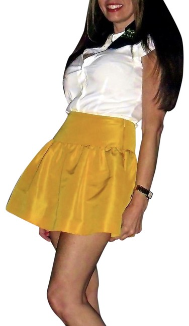 Red Valentino short dress White Top Yellow Skirt on Tradesy Image 0
