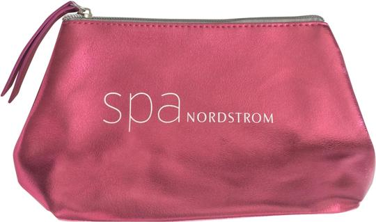 Nordstrom Metallic Makeup Pink Faux Leather Weekend/Travel Bag Image 0