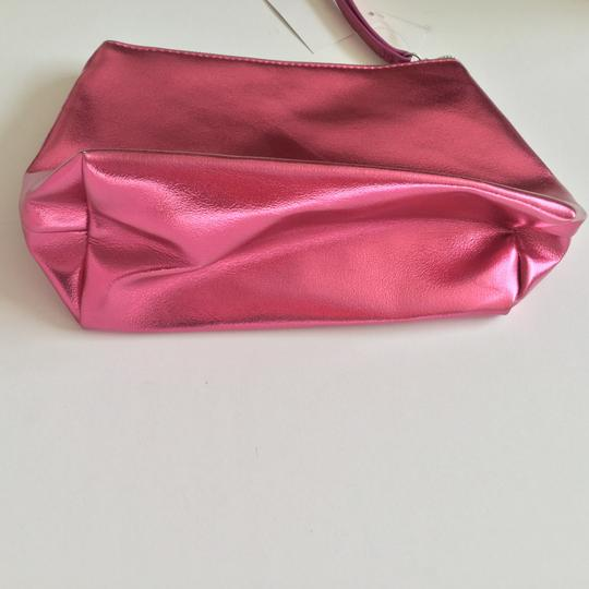 Nordstrom Metallic Makeup Pink Faux Leather Weekend/Travel Bag Image 3
