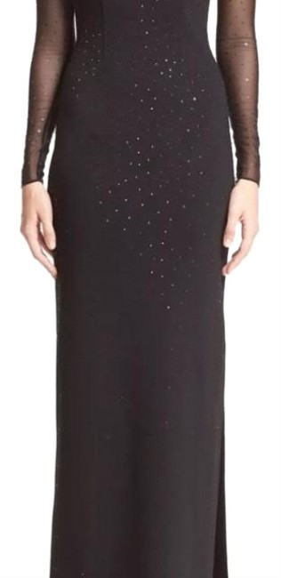 Preload https://img-static.tradesy.com/item/24836726/st-john-black-5056153-embellished-shimmer-milano-knit-gown-long-formal-dress-size-10-m-0-1-650-650.jpg