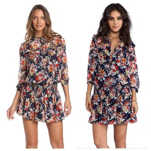 f1c65372cd4 Juicy Couture Blue Belladonna Floral Short Casual Dress Size 2 (XS ...
