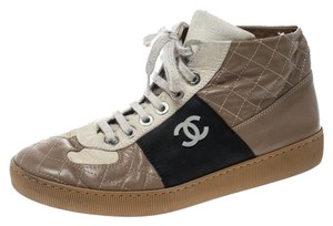 Chanel Quilted Leather Beige Flats