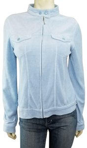 Juicy Couture Velour Zip-up Snap Closure Mock Neck Track Jacket