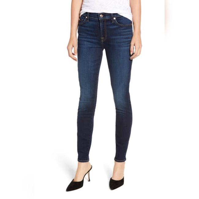 7 For All Mankind Dark Rinse Roxanne 714339 27 Skinny Jeans Size 4 (S, 27) 7 For All Mankind Dark Rinse Roxanne 714339 27 Skinny Jeans Size 4 (S, 27) Image 1