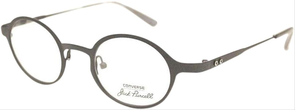 d683449ad7c3 Converse Jack Purcell Matte Black Frame & Demo Customisable Lens P005 Blk  Round Style Unisex Eyeglasses