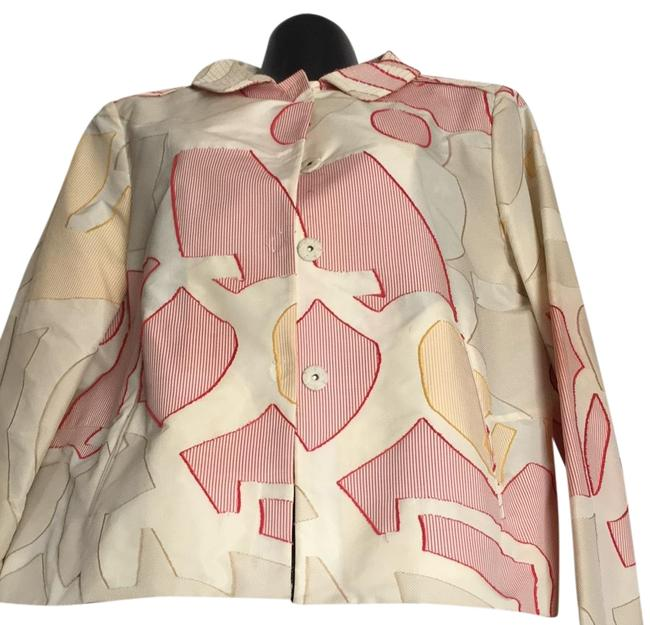Item - Beige Red Yellow Multicolored Jacket Size 10 (M)