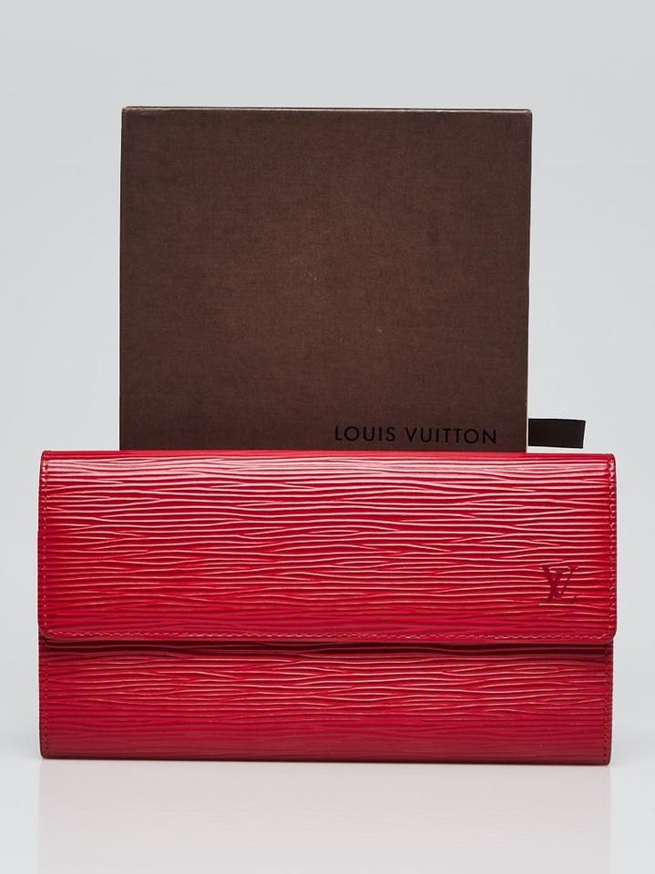 d72d0951d9bad Louis Vuitton Red Leather Epi Leather Sarah Wallet - Tradesy