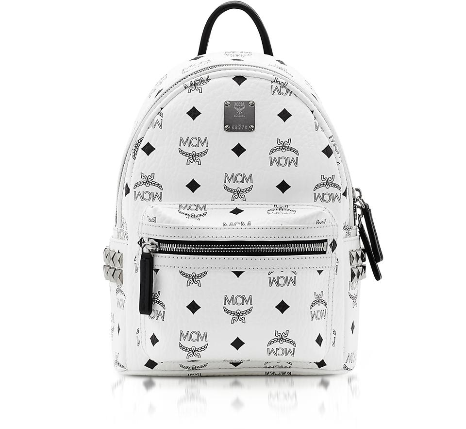 0799d4372a25e MCM White Mini Stark Backpack - Tradesy