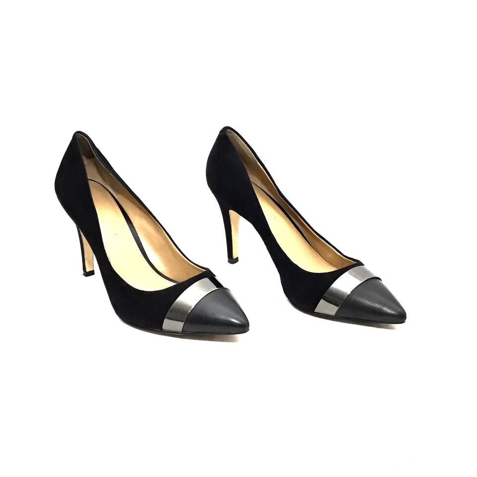 46183ca391d9 Banana Republic Black Suede Leather and Metal Cap Pointed Toe Pumps. Size  US  9.5 Regular (M ...