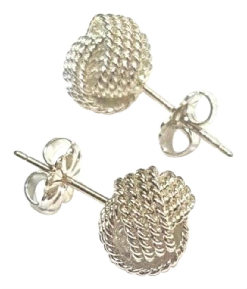 Tiffany Co Twist Never Worn Sterling Silver Knot 10mm Guaranteed Comes Earrings