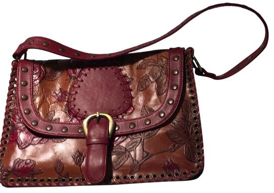 Preload https://img-static.tradesy.com/item/24837901/isabella-fiore-bonanza-annie-brown-and-red-leather-shoulder-bag-0-1-540-540.jpg