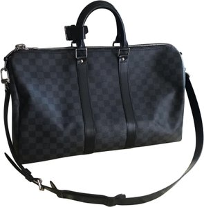 1f506a06b357 Louis Vuitton Keepall Duffle Bandouliere 45 Damier Graphite Canvas ...