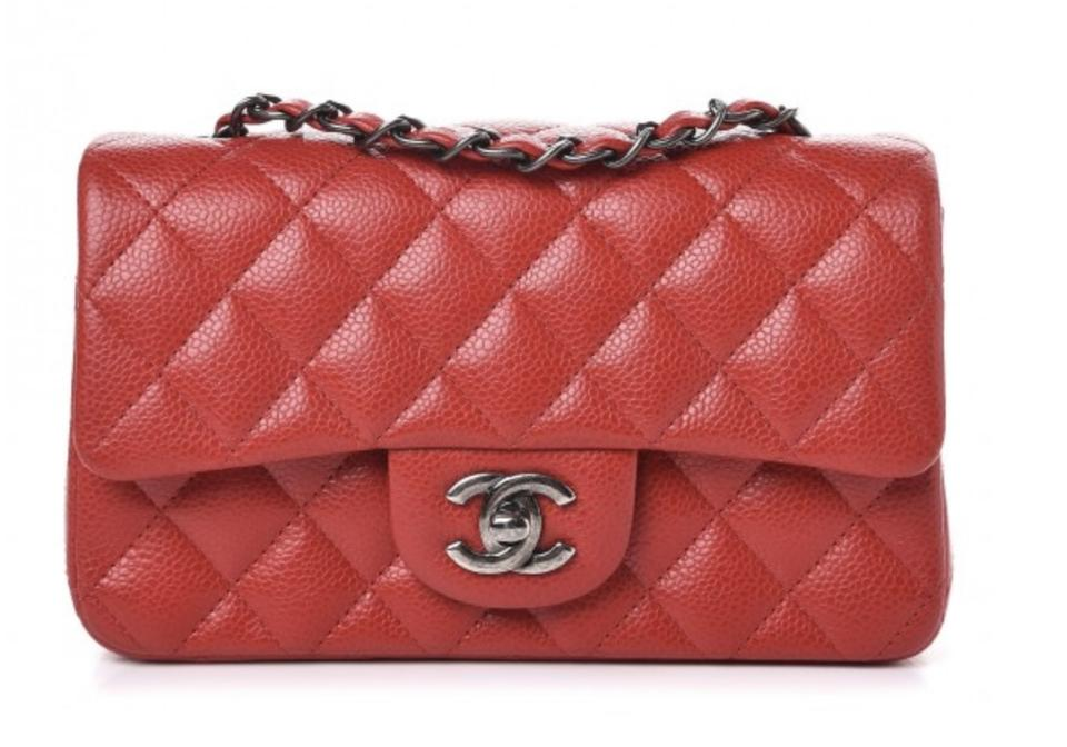 d31dbe7e45c8 Chanel Classic Flap Rectangular Mini with Ruthenium Hardware Red ...