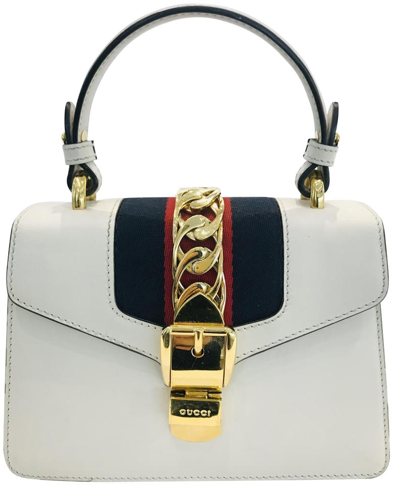 Gucci Sylvie Mini White Leather Cross Body Bag - Tradesy 62feb04511ebc