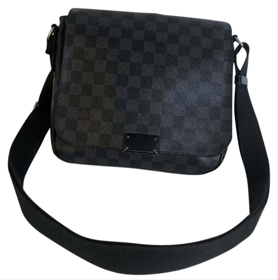 2287f2c3455f Louis Vuitton District Pm Damier Graphite Messenger Black Canvas ...