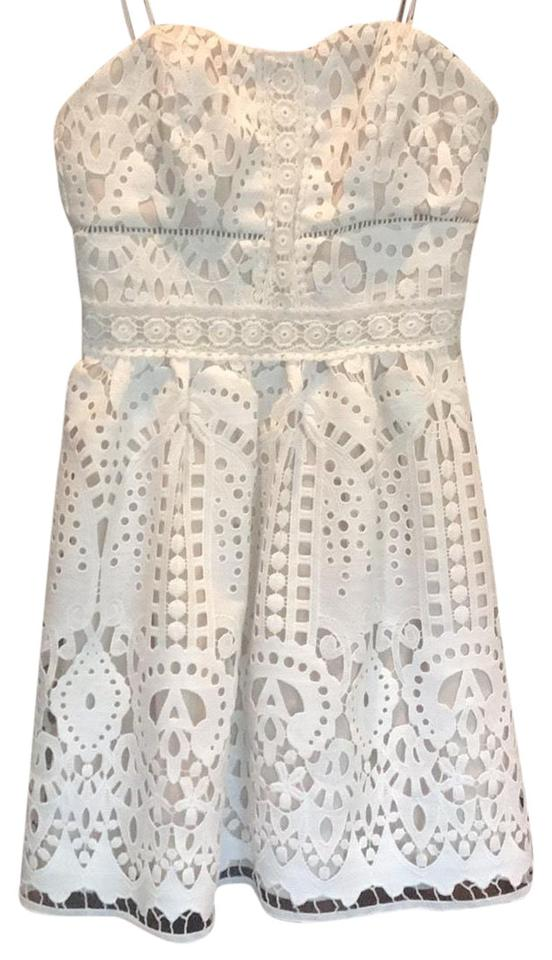 c5a8435a78f44 adelyn rae White 112282 Short Cocktail Dress Size 4 (S) - Tradesy