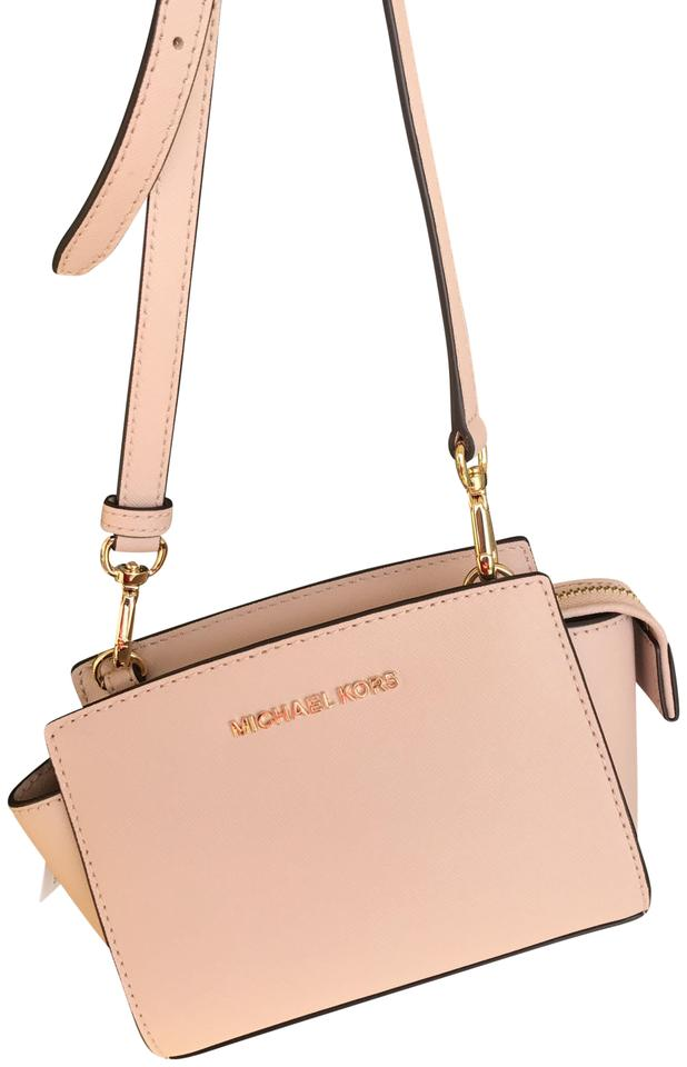 Michael Kors Selma Mini  Gold Ballet Leather Cross Body Bag - Tradesy 30430f6fd727a