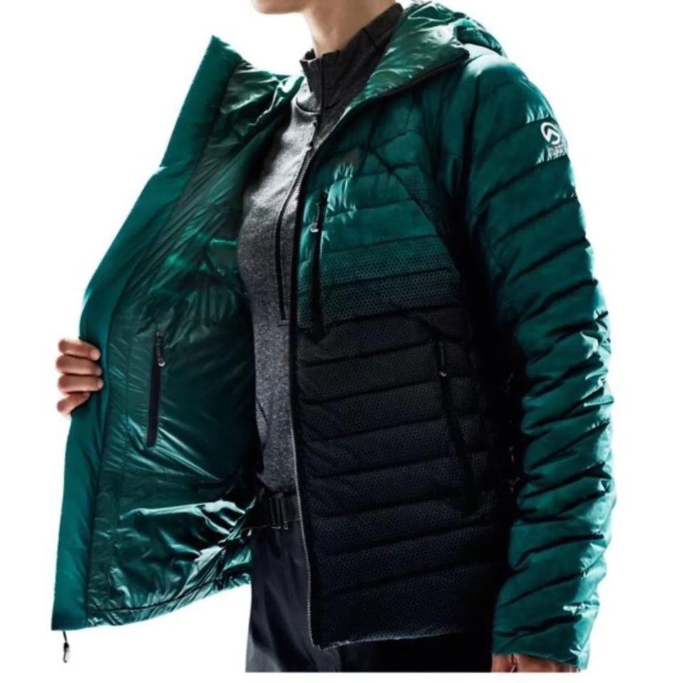 76c76b3e97bc The North Face Green and Black Women Summit L3 Mid-layer Down Jacket ...