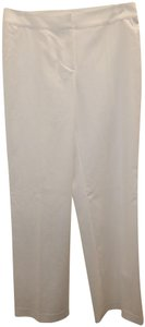 St. John Stretchy Flat Front Straight Pants White