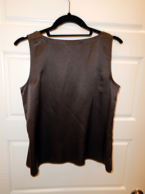 Eileen Fisher Silk Shell Top Brown Image 4