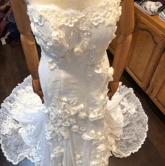 Anais Collezioni Ivory Coco #an149 Feminine Wedding Dress Size 4 (S) Image 3